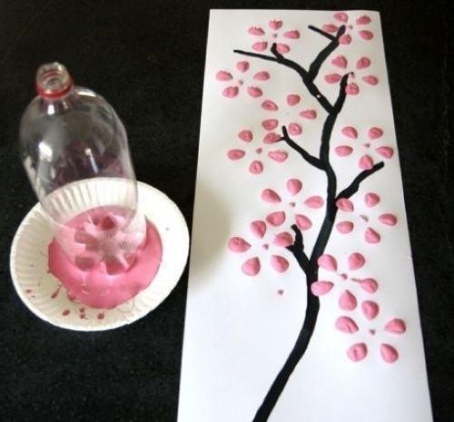 picturi cu sticle de plastic