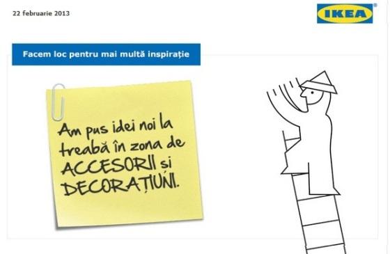 reorganizarea sectoarelor de accesorii si decoratiuni IKEA