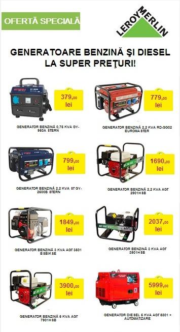 generatoare benzină și diesel