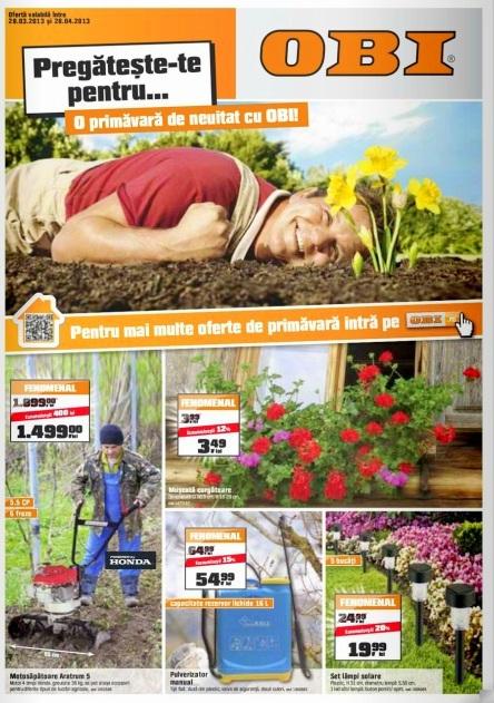 catalog OBI martie aprilie 2013