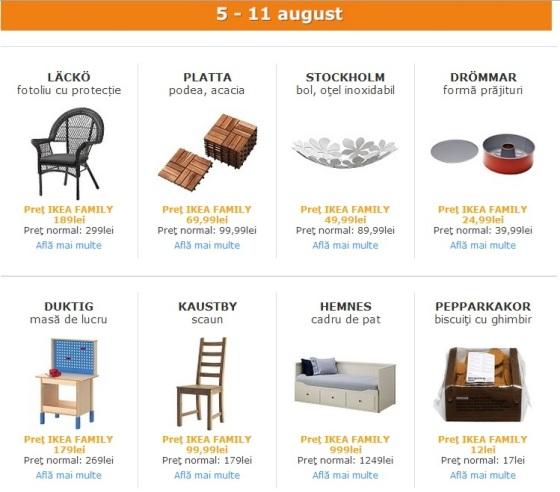 oferte IKEA Family