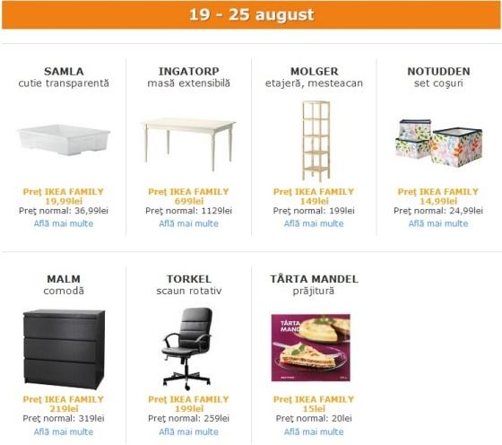 reduceri IKEA Family